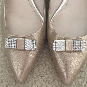 Coach Shoes - Coach Gold Kitten Heels (6)